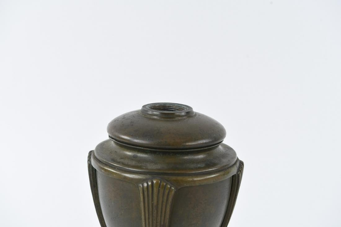 "TIFFANY STUDIOS BRONZE ""GREEK URN"" LAMP BASE - 2"