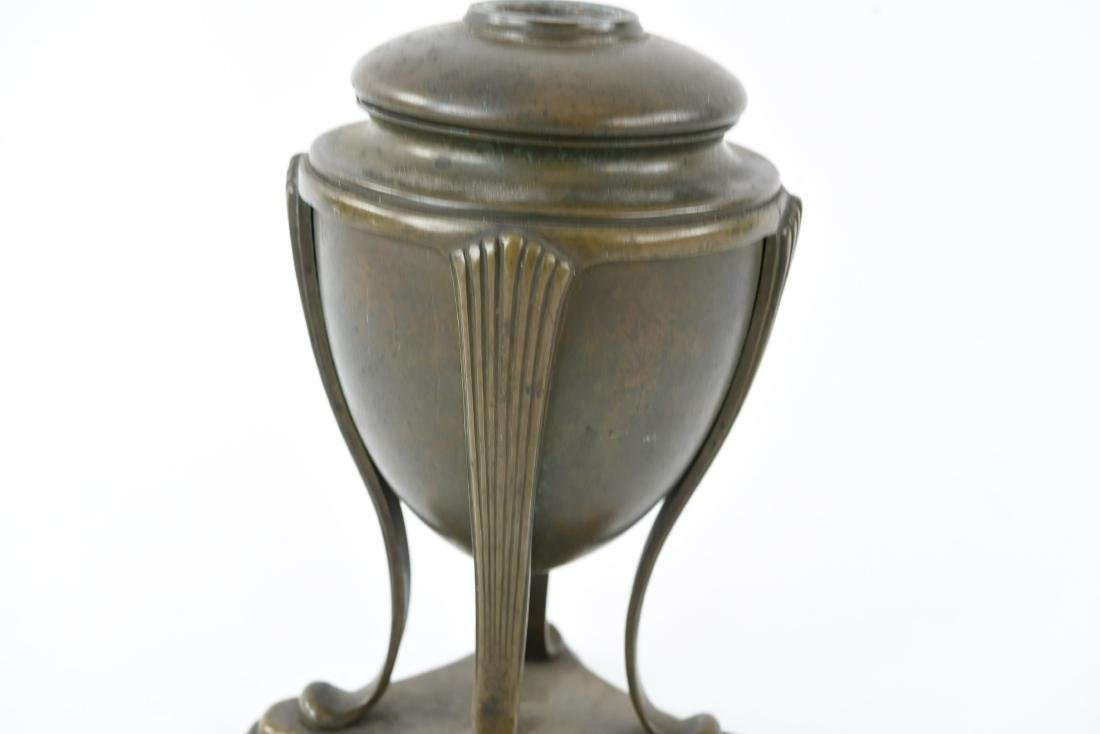 "TIFFANY STUDIOS BRONZE ""GREEK URN"" LAMP BASE - 3"