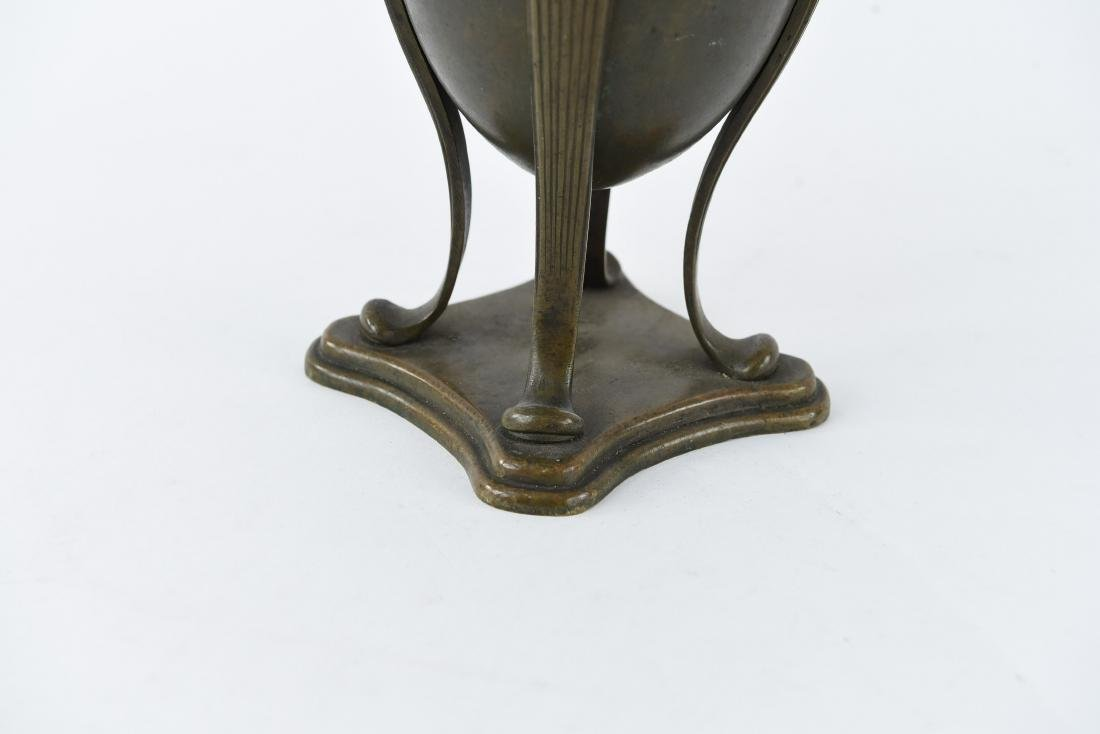 "TIFFANY STUDIOS BRONZE ""GREEK URN"" LAMP BASE - 4"