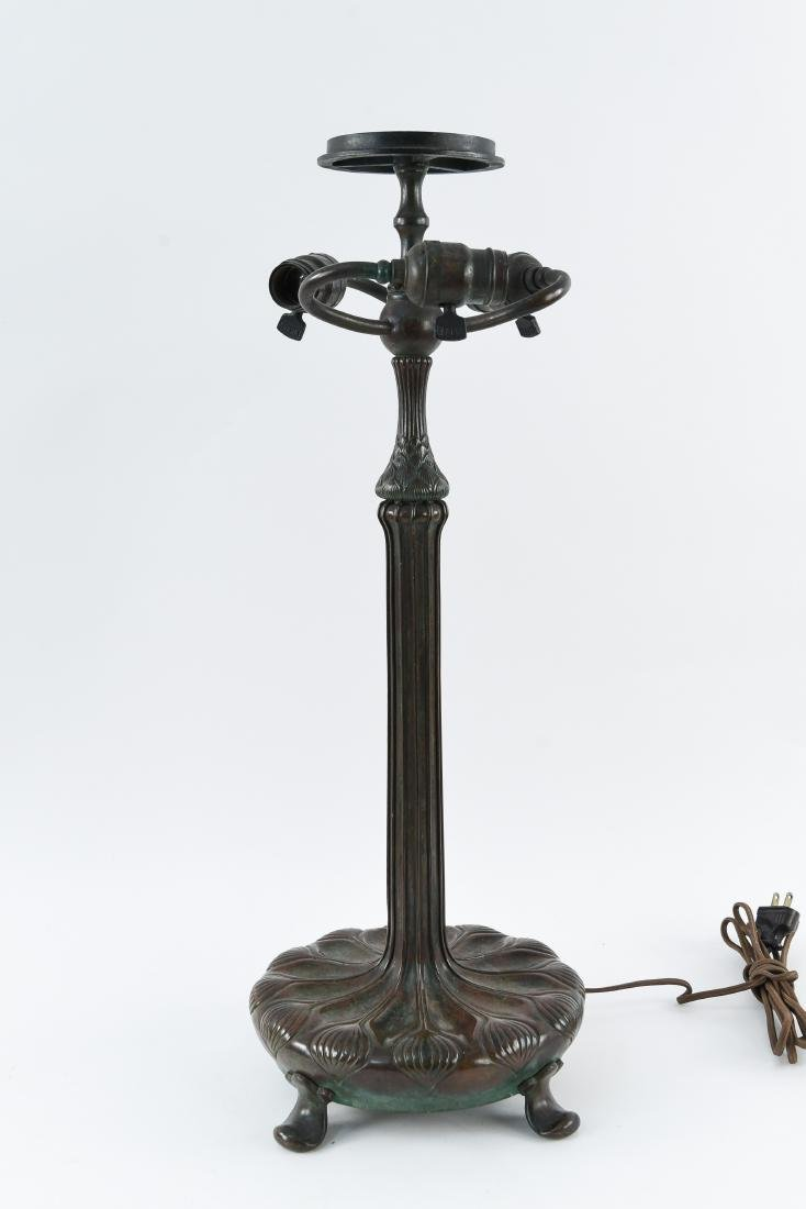 TIFFANY STUDIOS BRONZE TABLE LAMP BASE