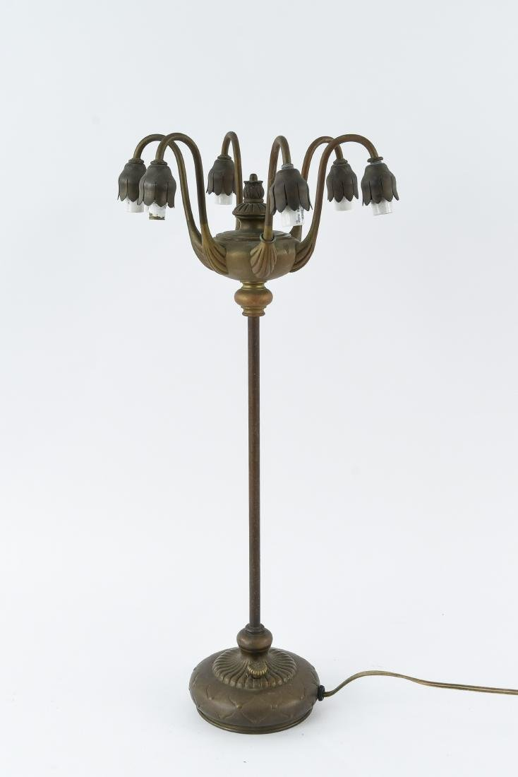 TIFFANY STUDIOS 6-LIGHT LILY TABLE LAMP