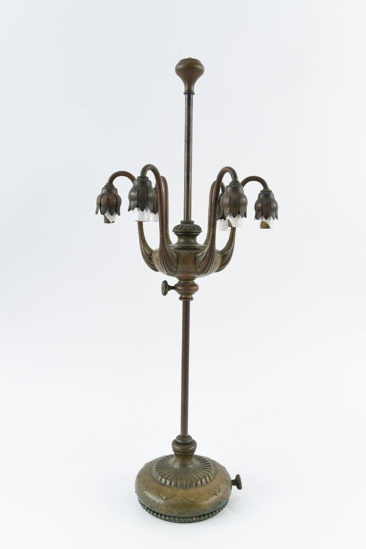 TIFFANY STUDIOS BRONZE LILY TABLE LAMP BASE