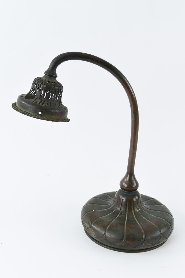TIFFANY STUDIOS BRONZE DESK LAMP