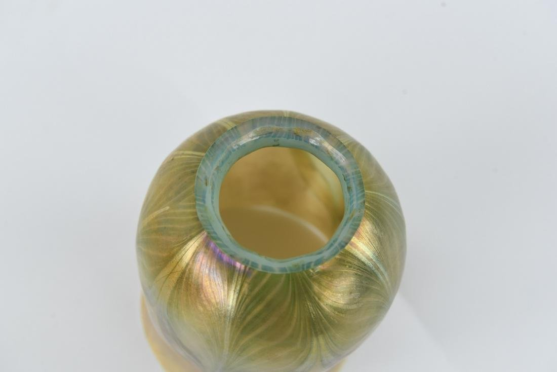 TIFFANY PULLED FEATHER ART GLASS SHADE - 5