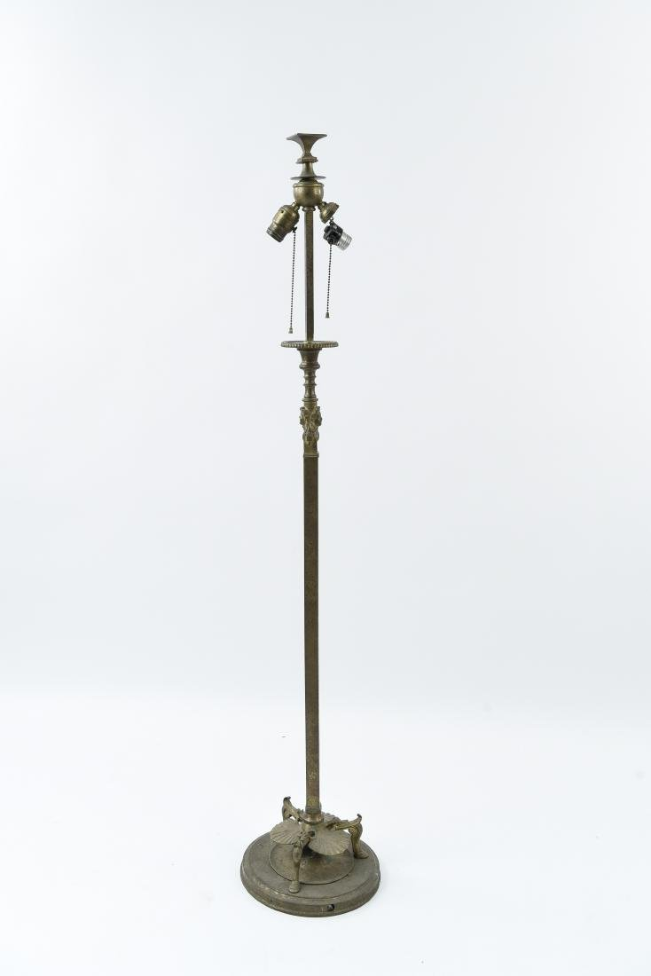 TIFFANY STUDIOS BRONZE FLOOR LAMP
