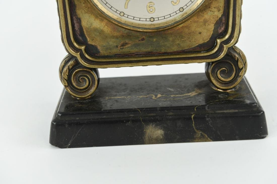 TIFFANY & CO. ANGELUS SWISS MARBLE BASE DESK CLOCK - 4