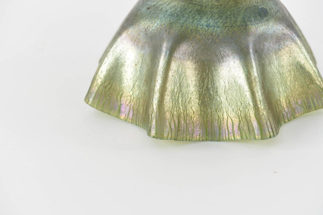 TIFFANY LCT RUFFLED FAVRILE ART GLASS SHADE - 2
