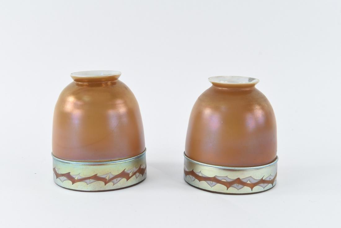(2)ATTR TIFFANY ART GLASS SHADES