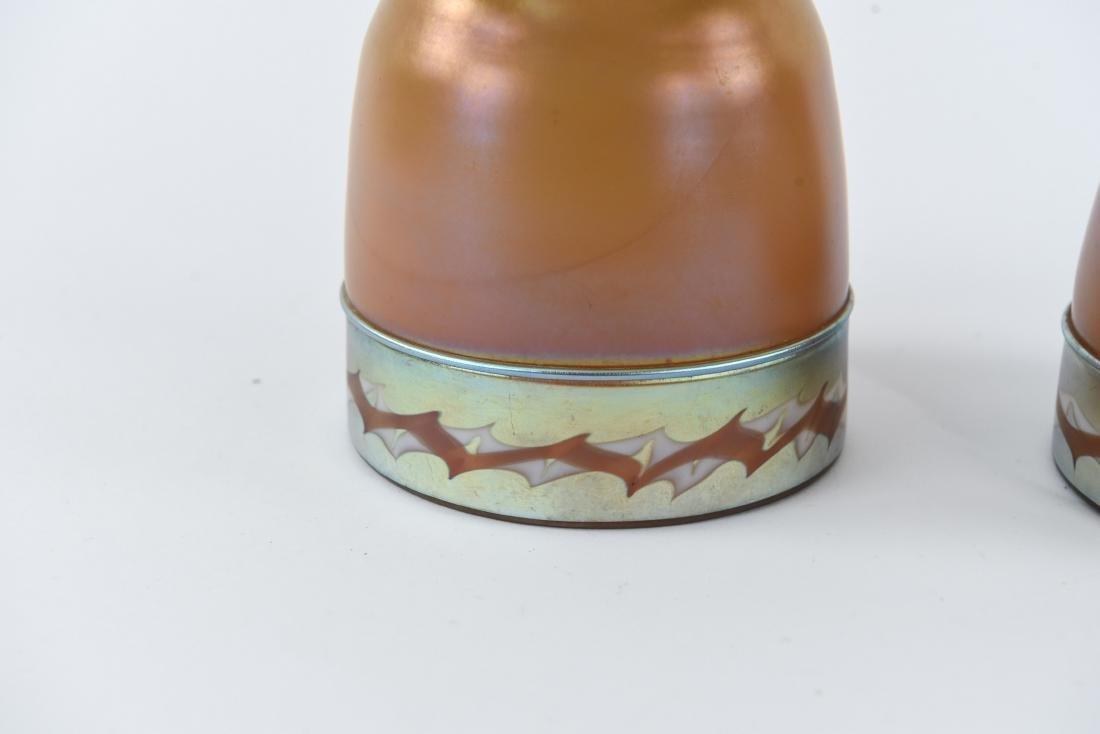 (2)ATTR TIFFANY ART GLASS SHADES - 2