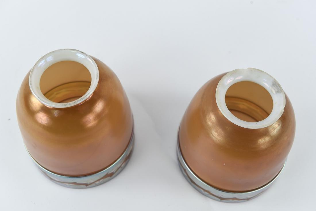 (2)ATTR TIFFANY ART GLASS SHADES - 6