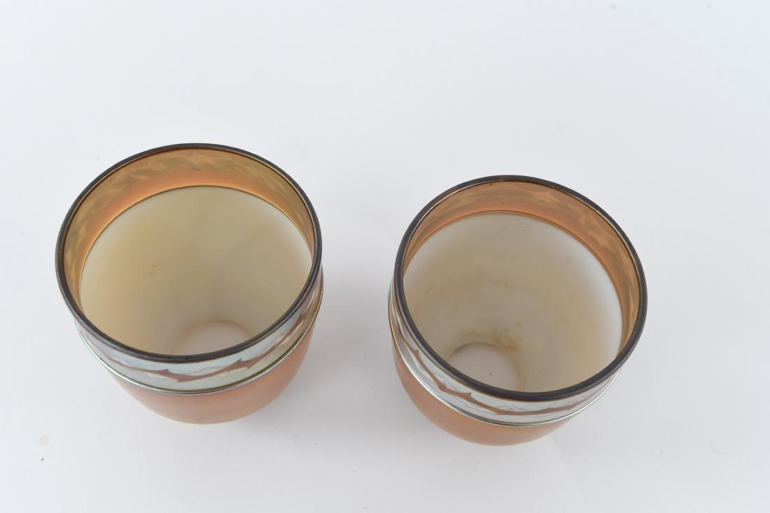 (2)ATTR TIFFANY ART GLASS SHADES - 8