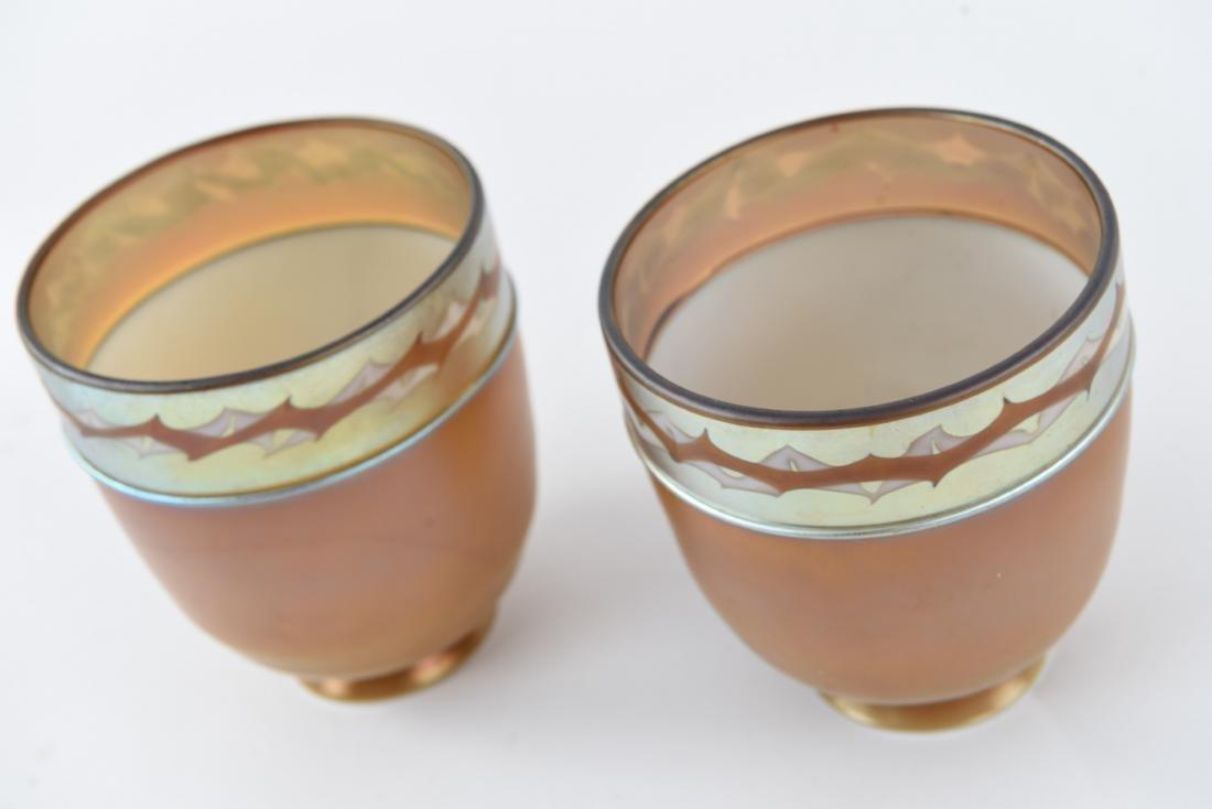 (2)ATTR TIFFANY ART GLASS SHADES - 9