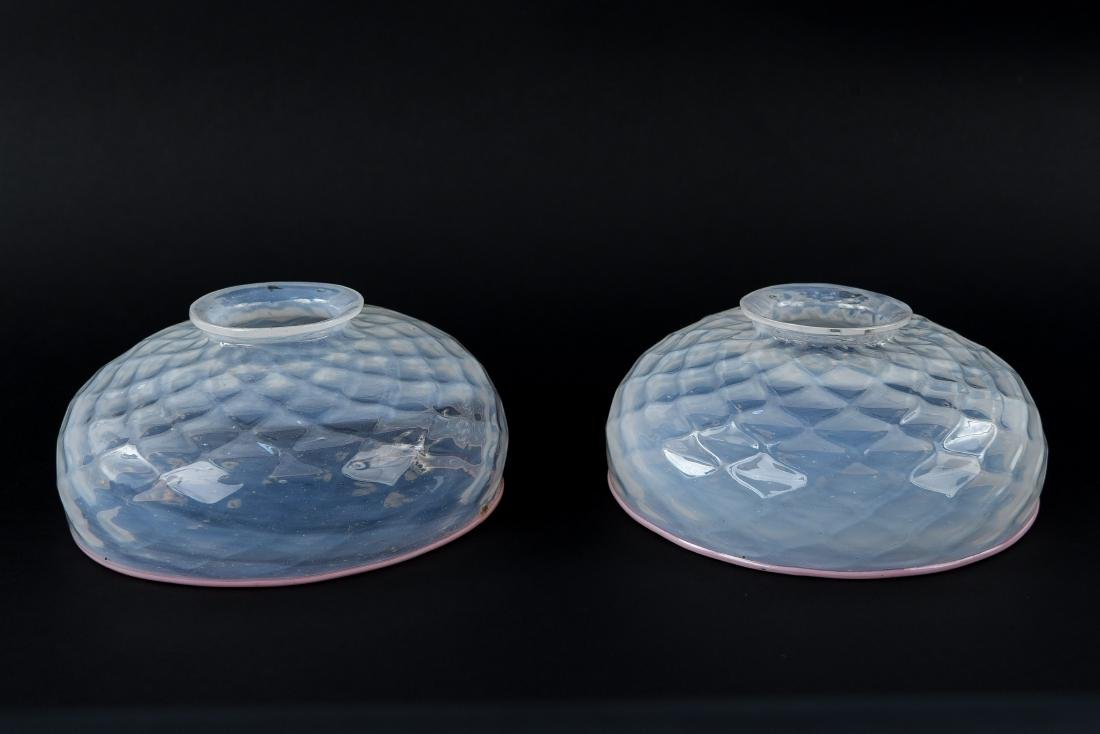 (2) ART GLASS SHADES