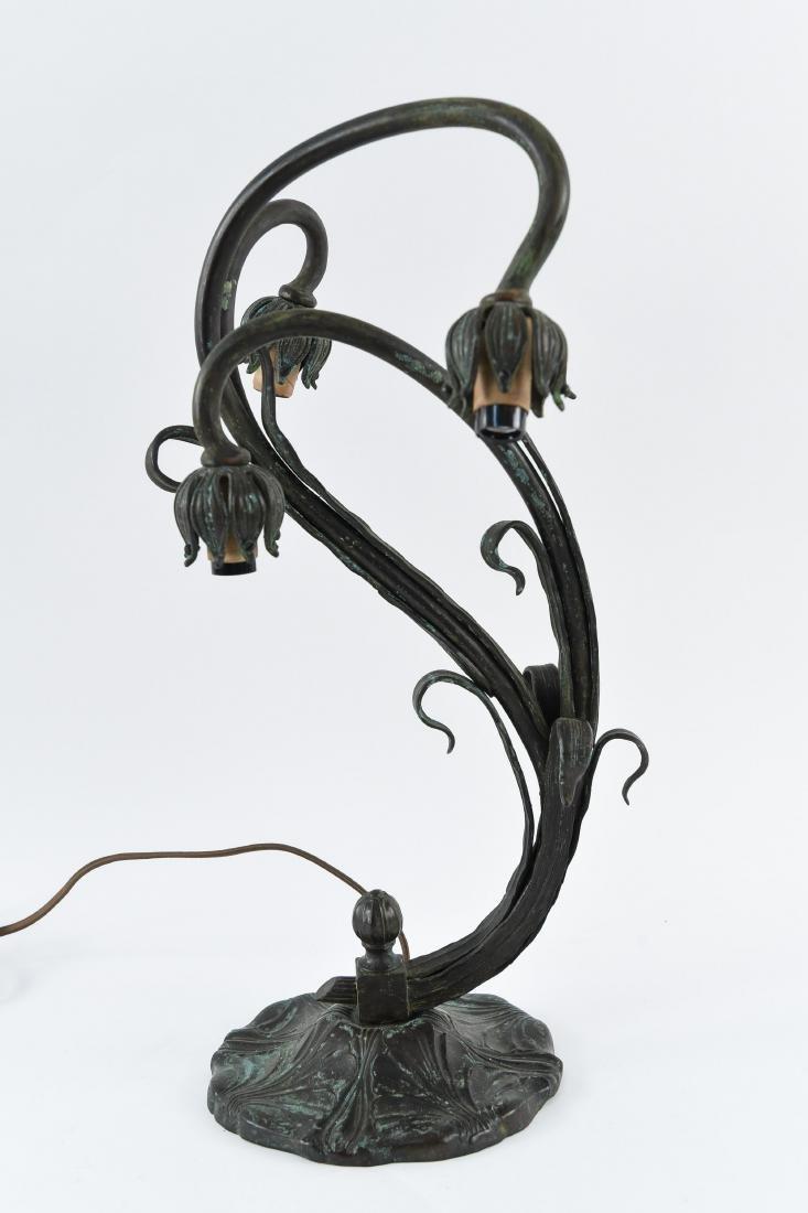 ST LOUIS BRASS MFG CO. 3-LIGHT LAMP