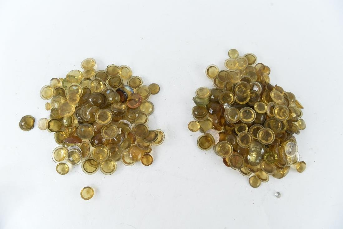 AMBER GLASS FACETED JEWELS