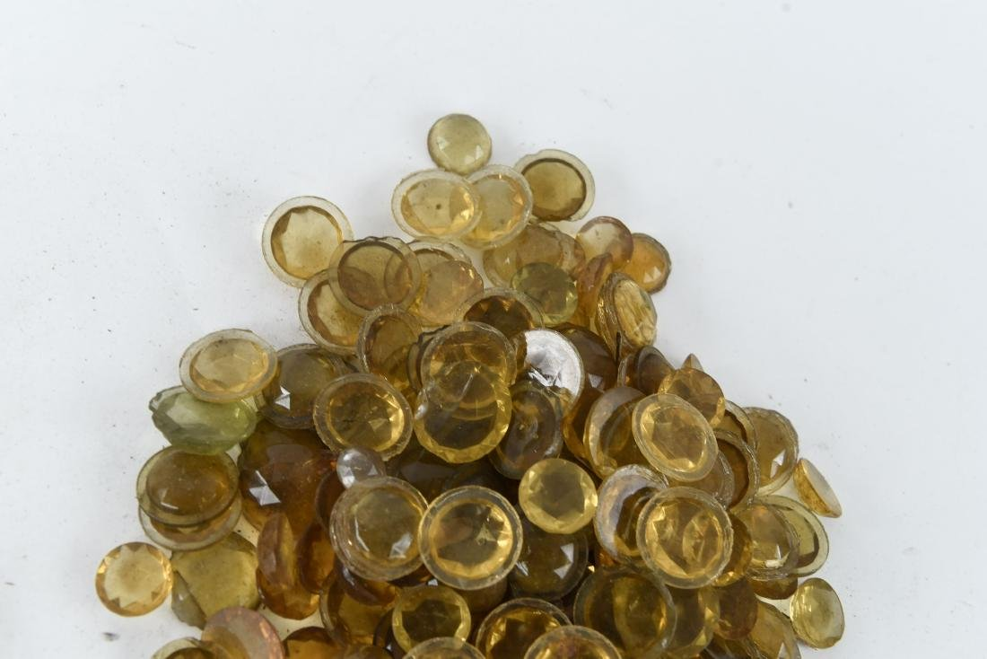 AMBER GLASS FACETED JEWELS - 4