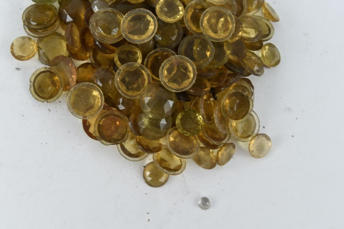 AMBER GLASS FACETED JEWELS - 6