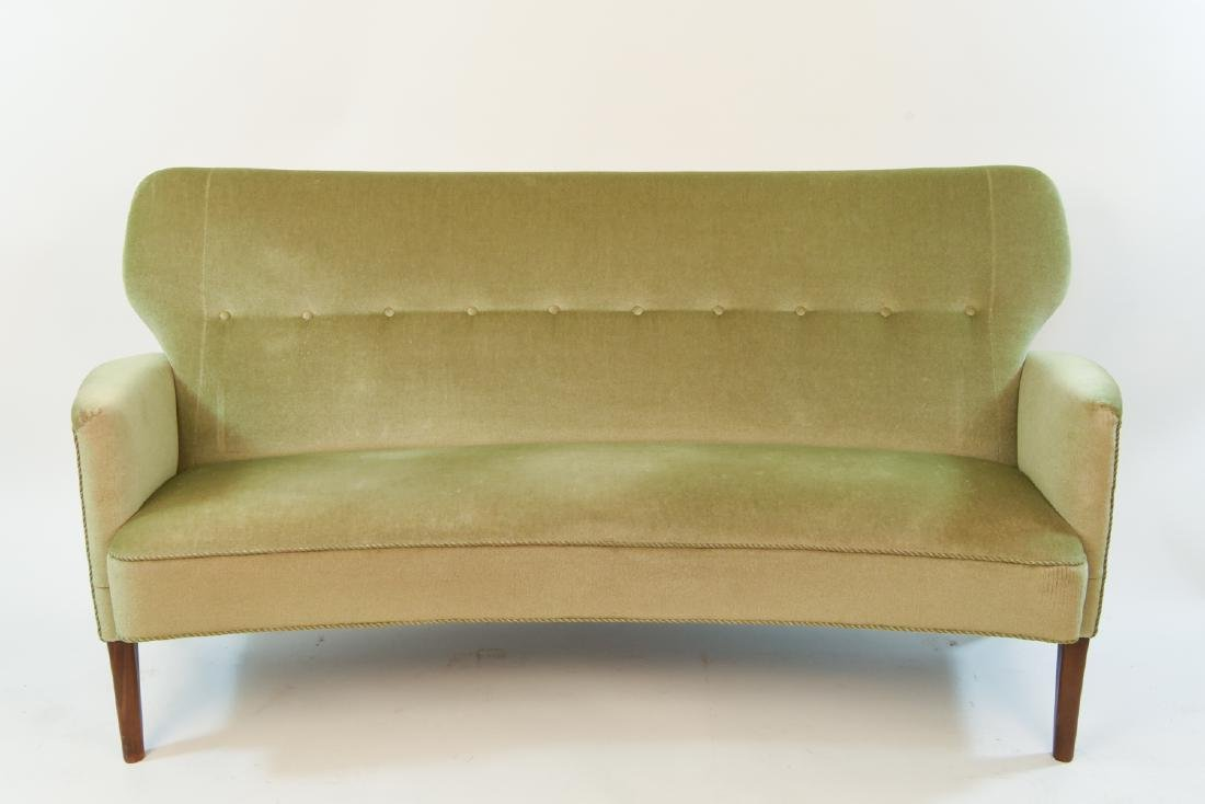 DANISH MID-CENTURY VELOUR SOFA