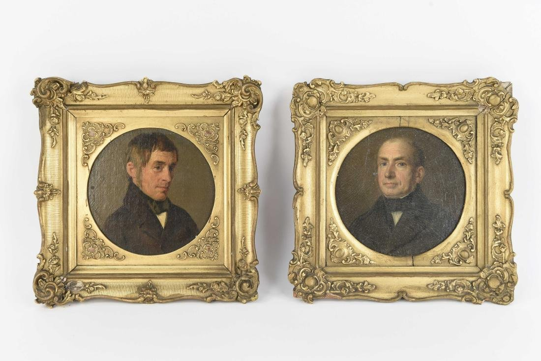 PAIR OF 19TH C. CONTINENTAL PORTRAITS OF MEN