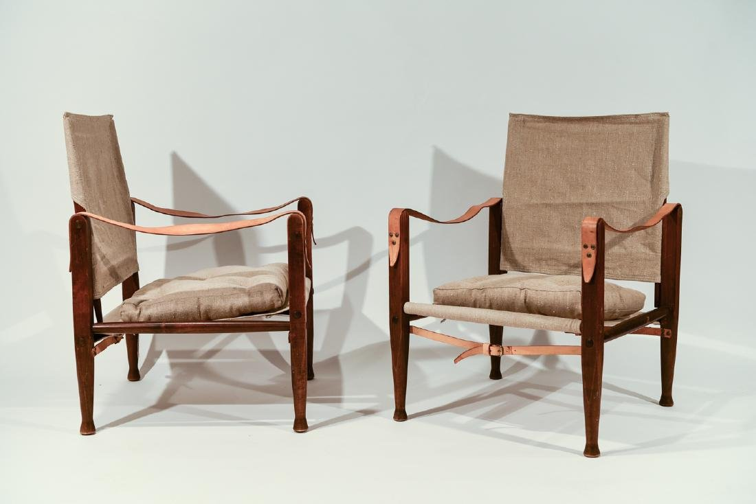PAIR KAARE KLINT FOR RUD RASMUSSEN SAFARI CHAIRS
