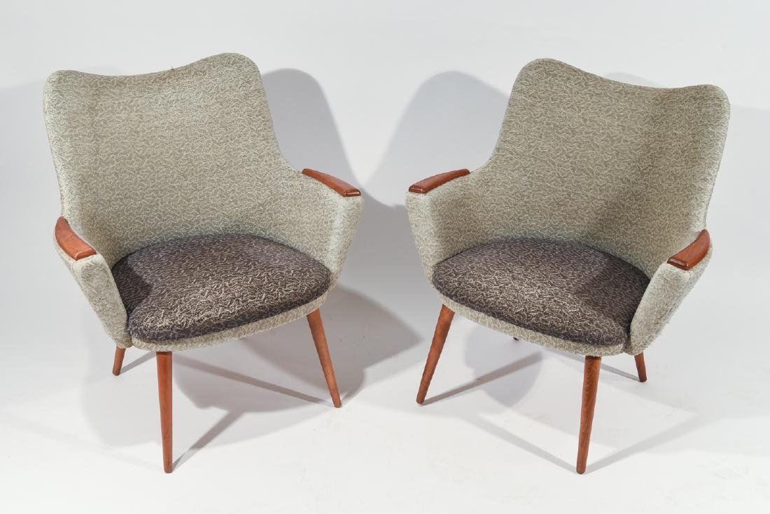 PAIR OF DANISH MOGENS HANSEN NO. 2 EASY CHAIRS