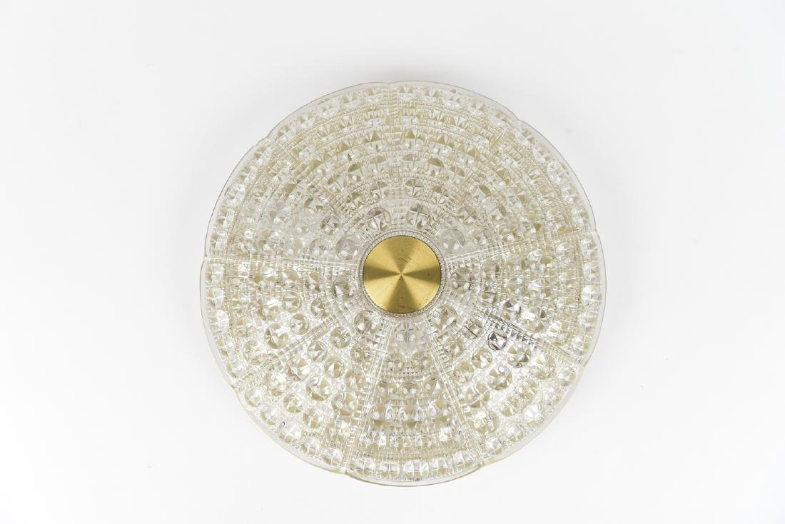 CARL FAGERLUND FOR ORREFORS CRYSTAL LIGHT FIXTURE