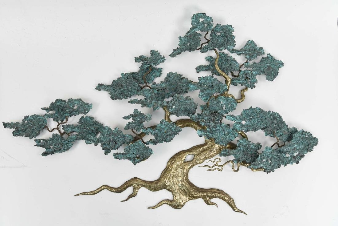 RON BERTOCCHI BONSAI TREE METAL WALL SCULPTURE