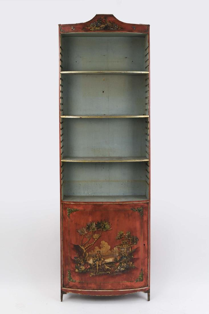 ITALIAN PAINTED CHINOISERIE BOOKCASE