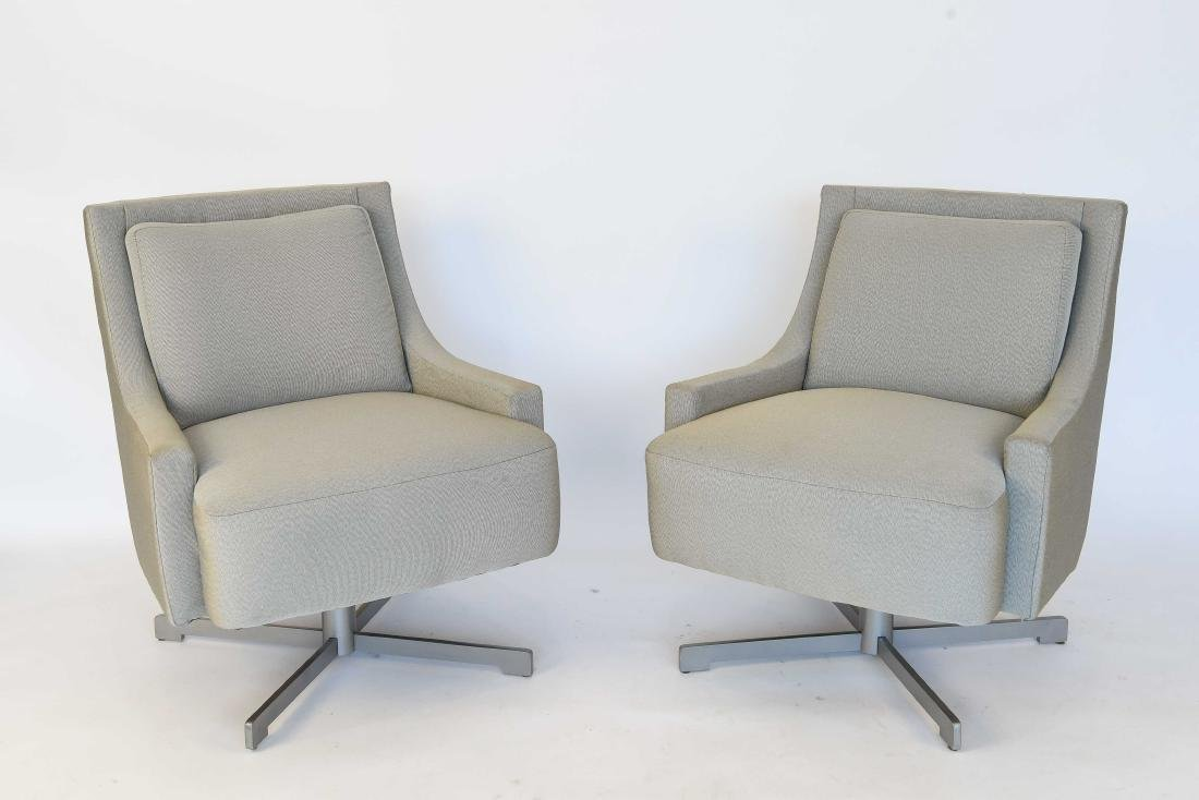 PAIR OF HBF SWIVEL LOUNGE CHAIRS