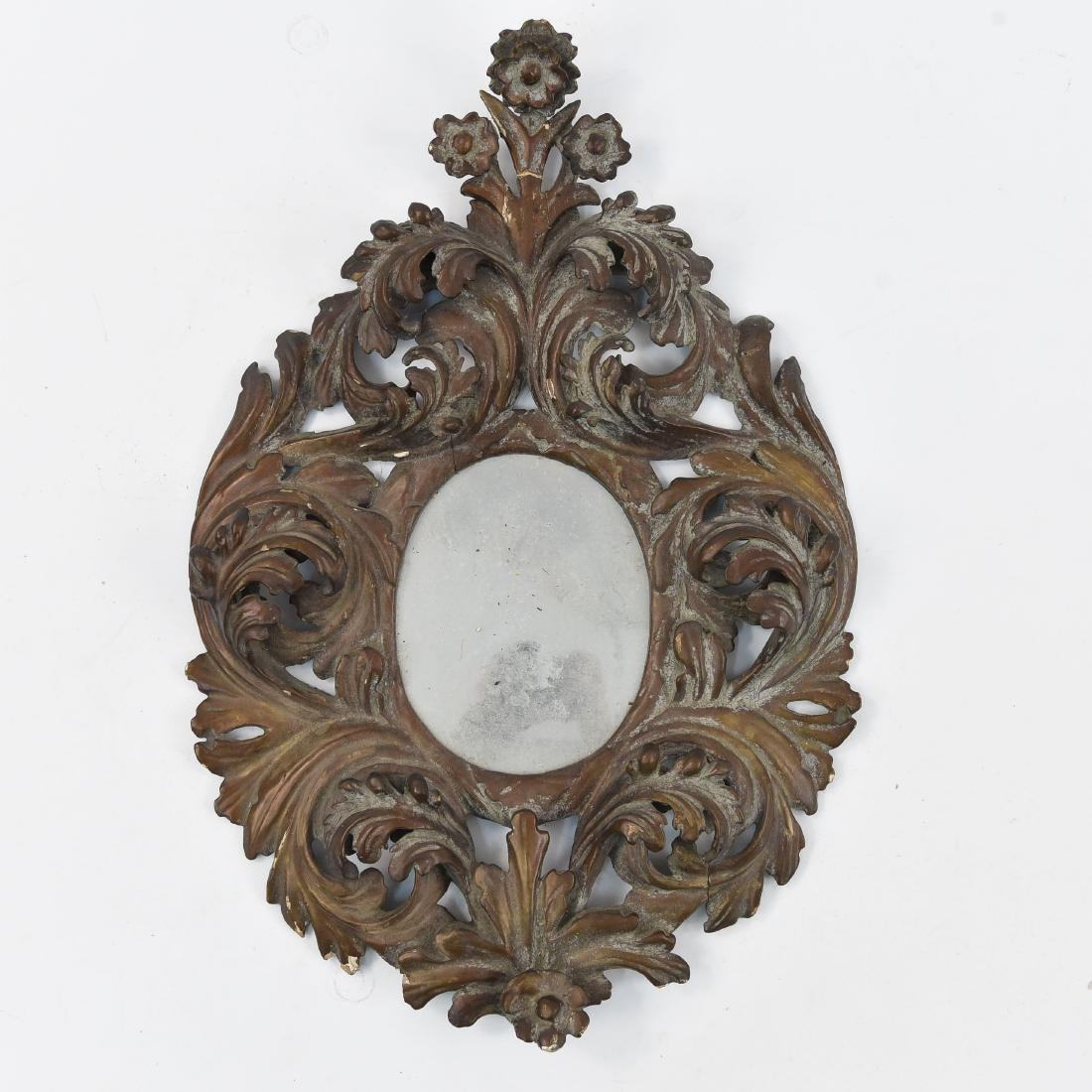 19TH C. ITALIAN ORNATE CARVED MIRROR