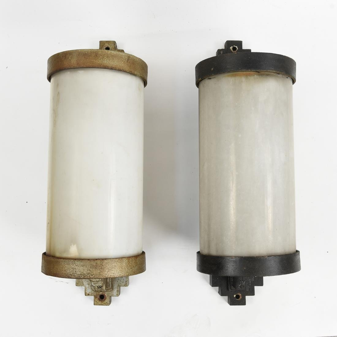 PAIR OF ART DECO SCONCES WALL LIGHTING FIXTURES