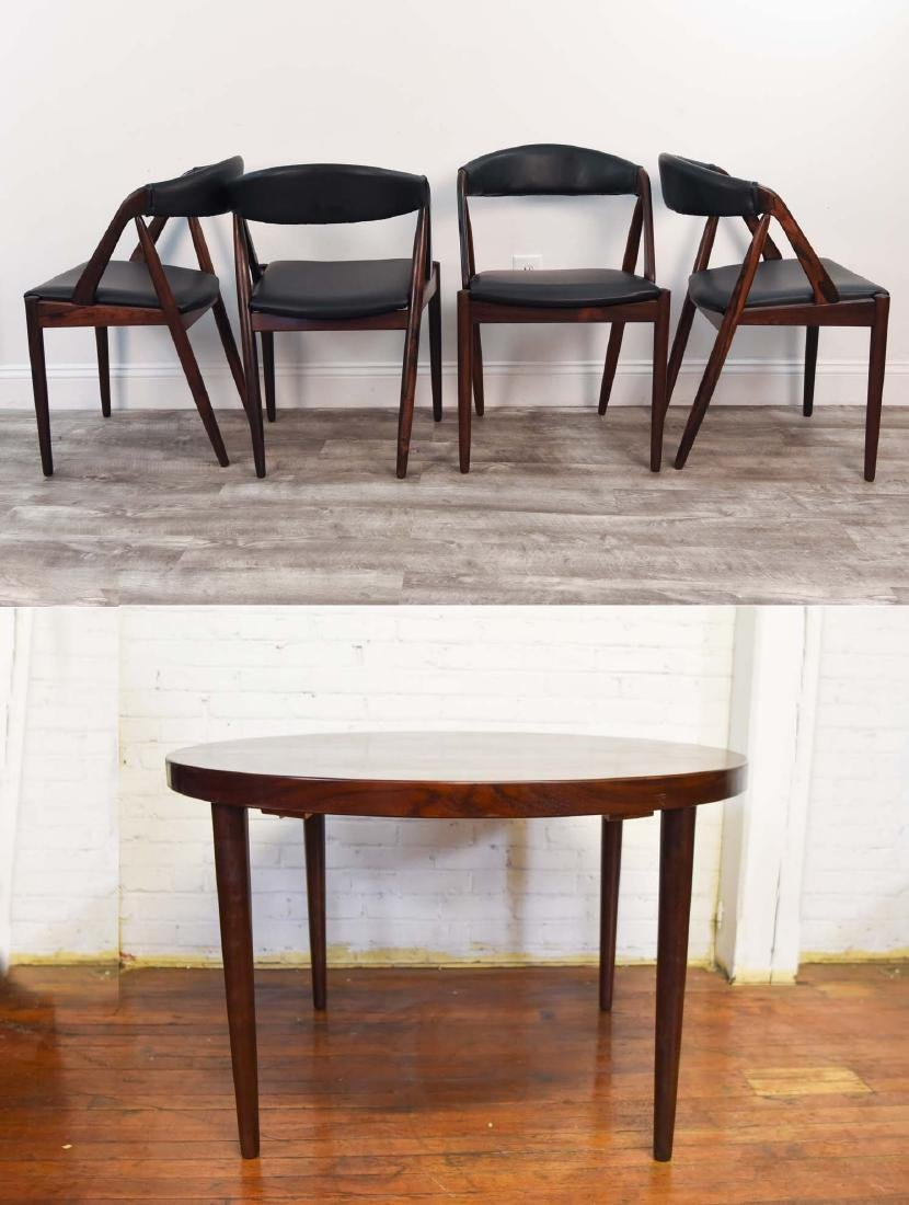 KAI KRISTIANSEN DANISH DINING TABLE & CHAIRS