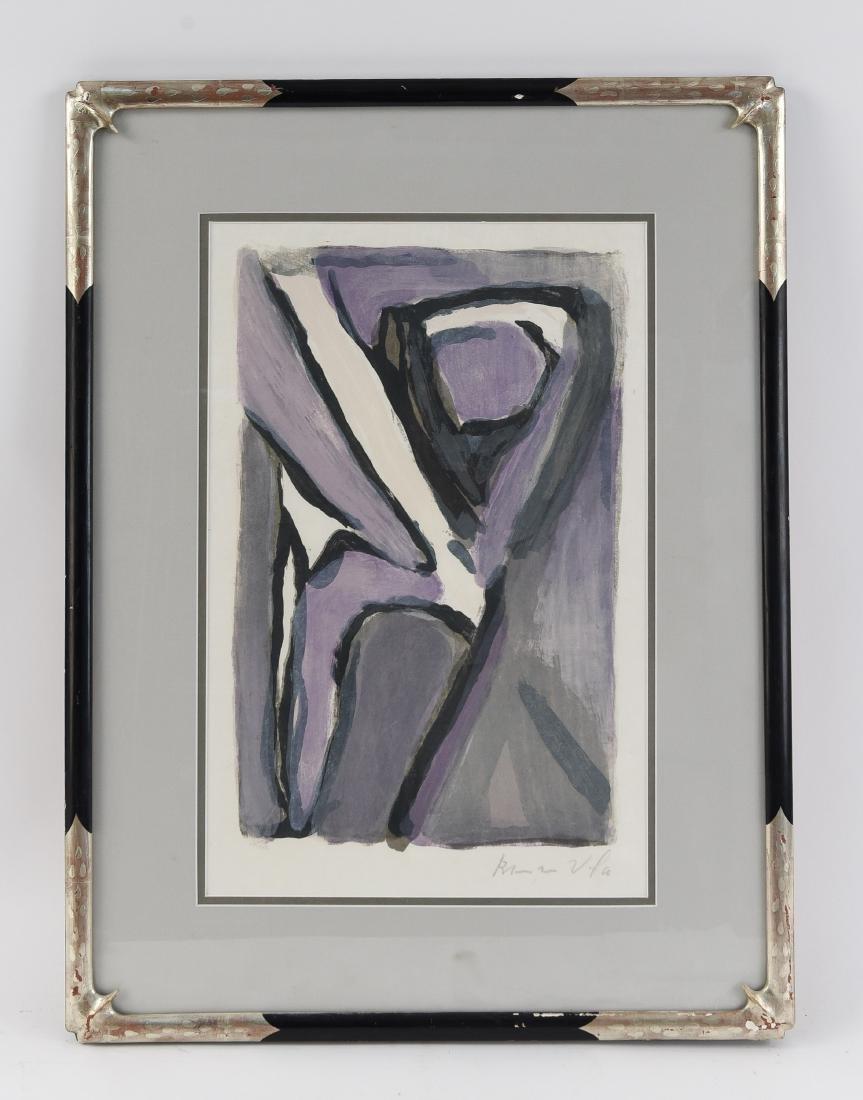 BRAM VAN VELDE (DUTCH 1895-1981) SIGNED LITHOGRAPH
