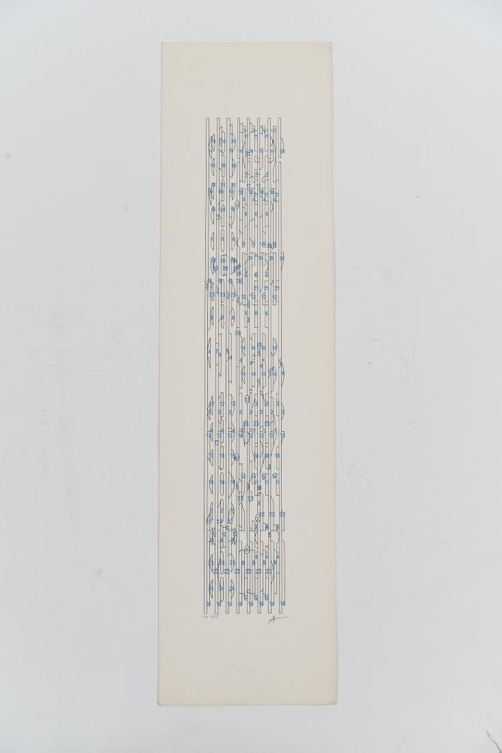 YAACOV AGAM (ISRAEL 1928-) SIGNED LIMITED EDITION