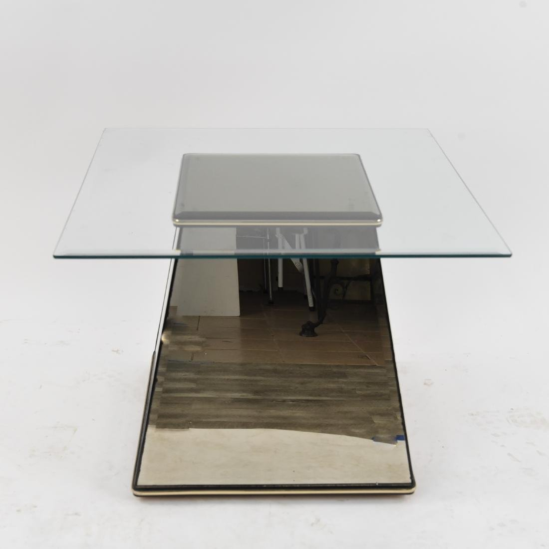 MID-CENTURY MIRRORED SIDE TABLE