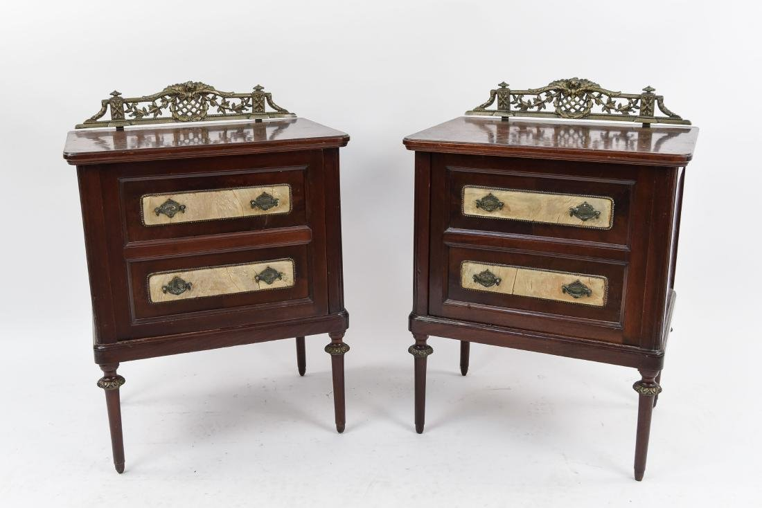 ANTIQUE HUMIDOR CABINET NIGHT STANDS