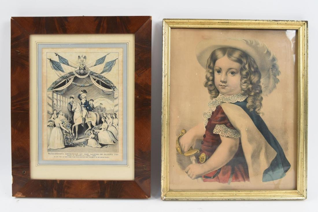 (2) CURRIER & IVES PRINTS