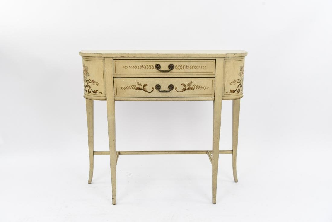 PAINT DECORATED CONSOLE TABLE