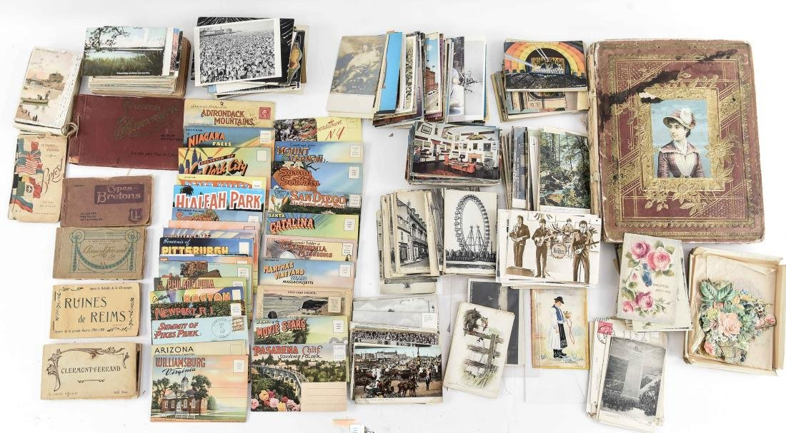 SCRAPBOOK ALBUM AND POSTCARD COLLECTION