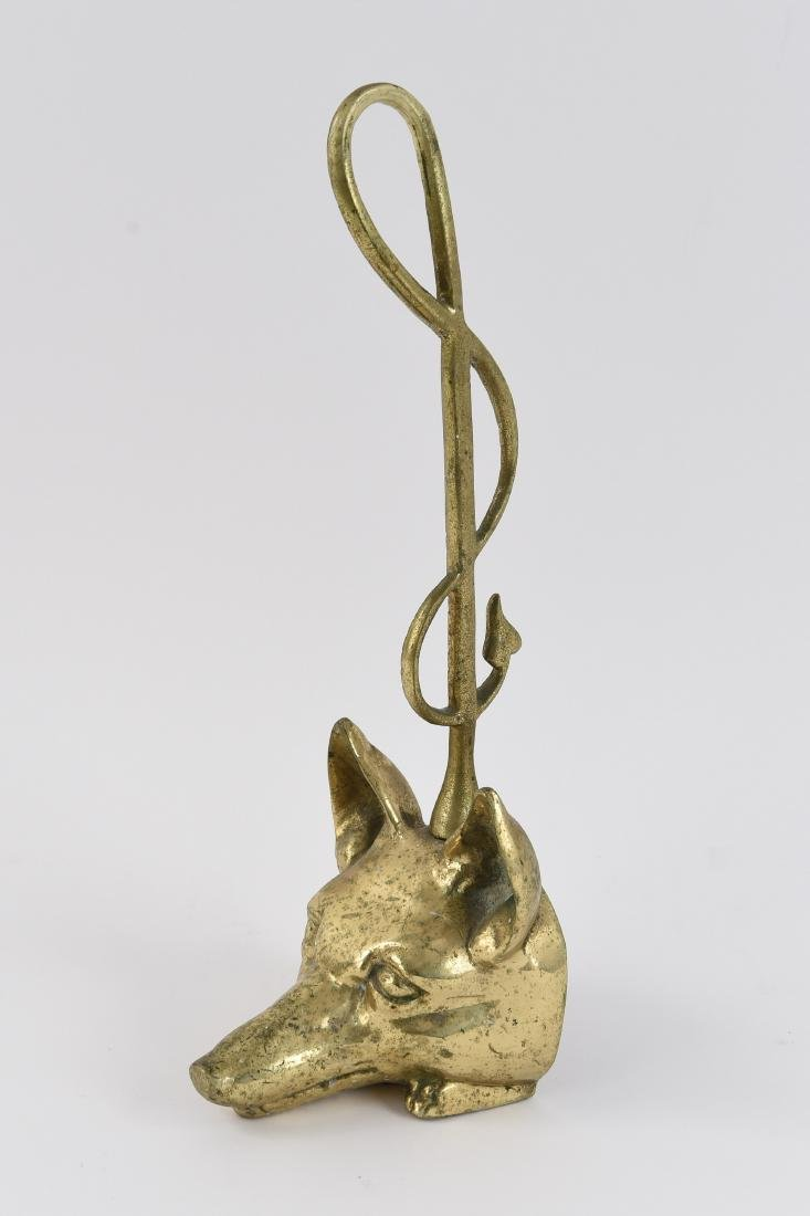 BRASS FOX DOOR STOP