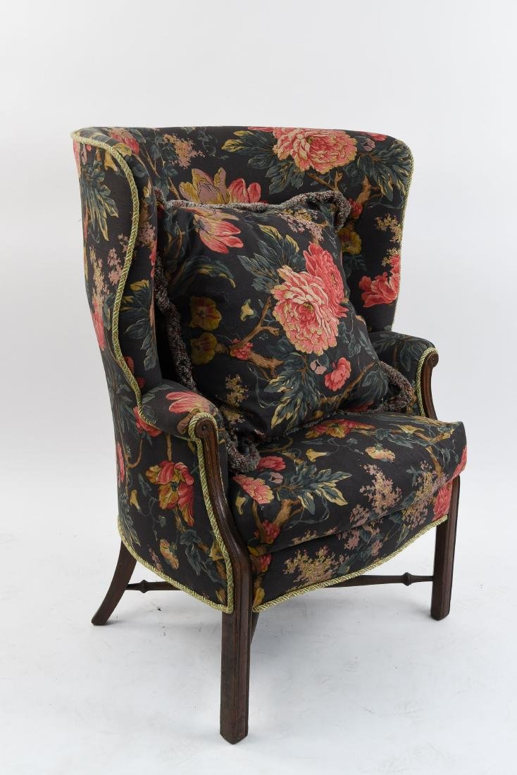 BARREL BACK WING CHAIR
