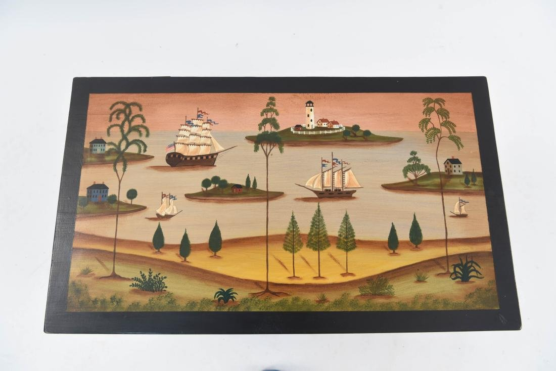 20TH C. FOLK PAINTED BLANKET CHEST