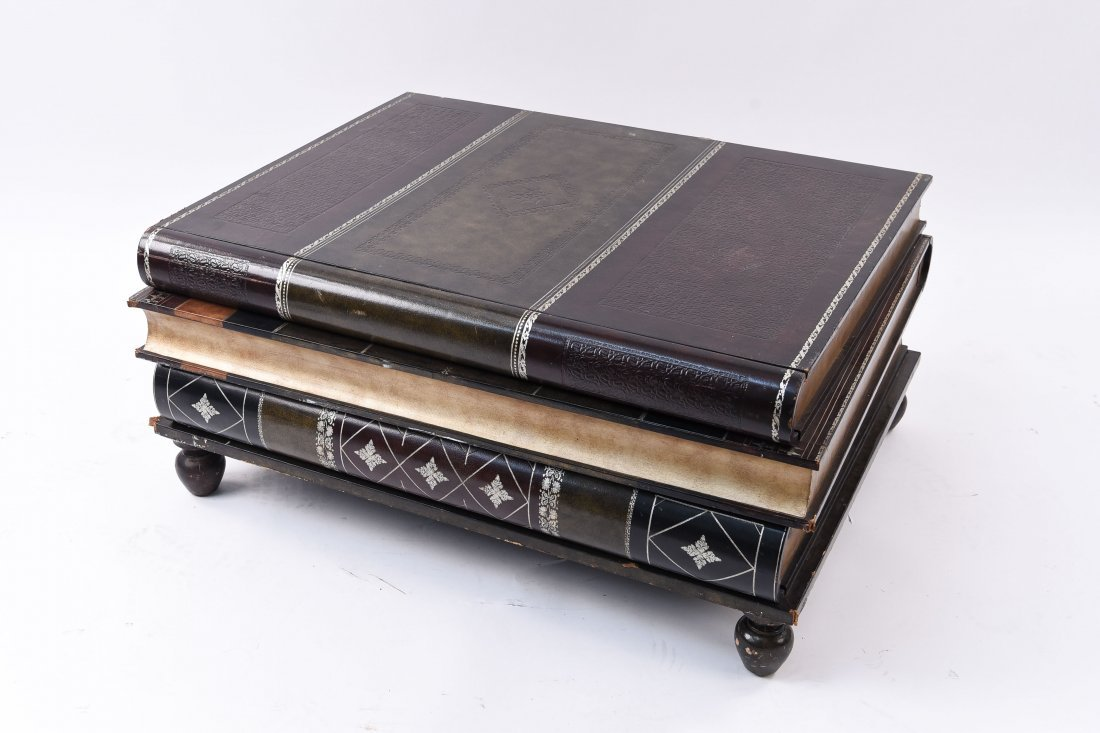 LARGE FAUX BOOKS COFFEE TABLE