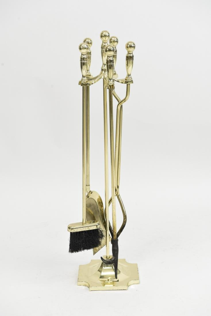 BRASS FINISH FIREPLACE TOOLS