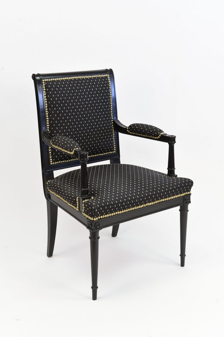 DIRECTOIRE BLACK LACQUERED ARMCHAIR