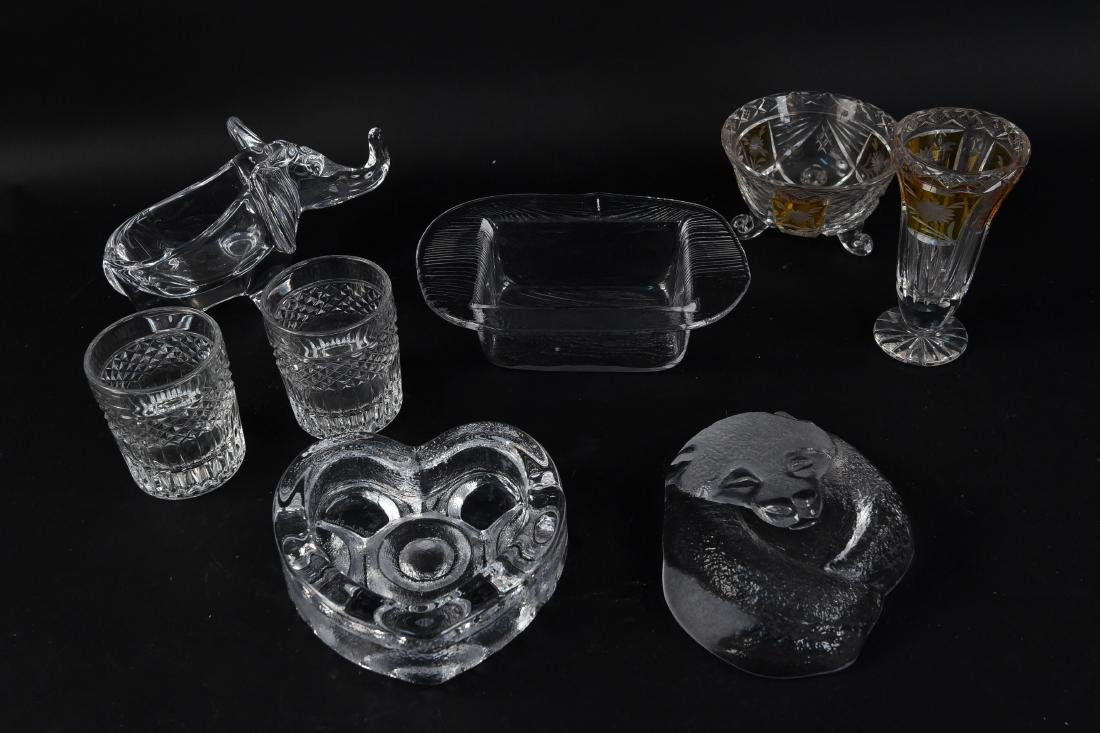 GLASS & CUT CRYSTAL GROUPING