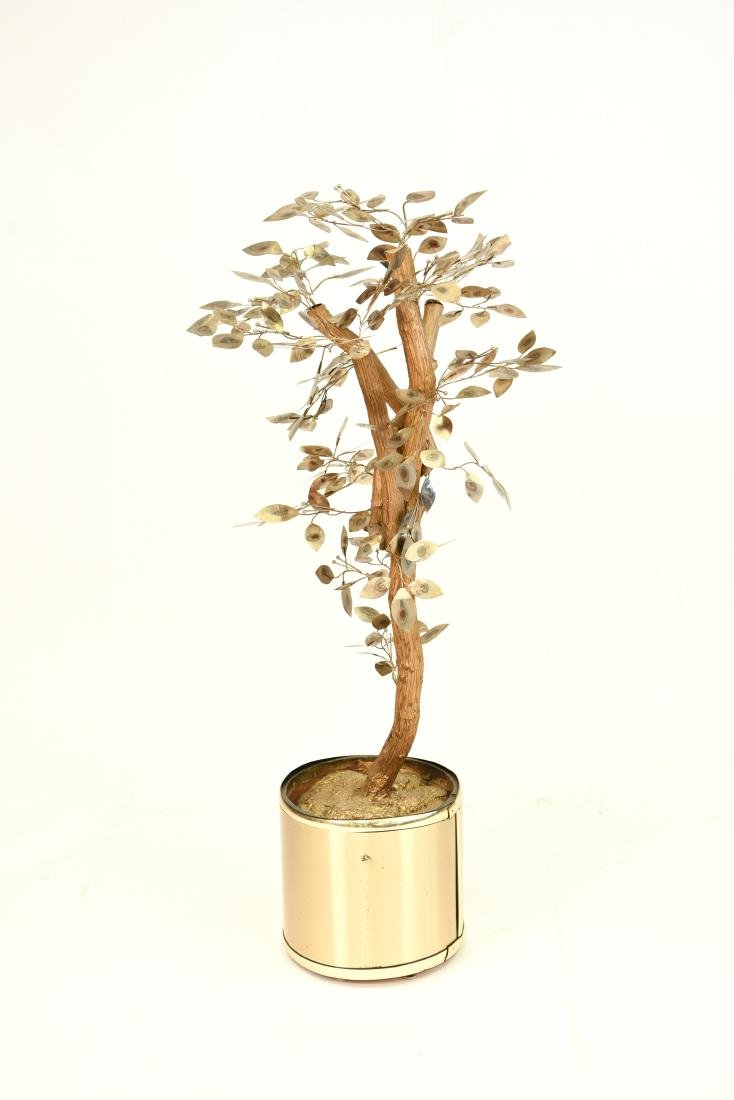 CURTIS JERE TREE SCULPTURE