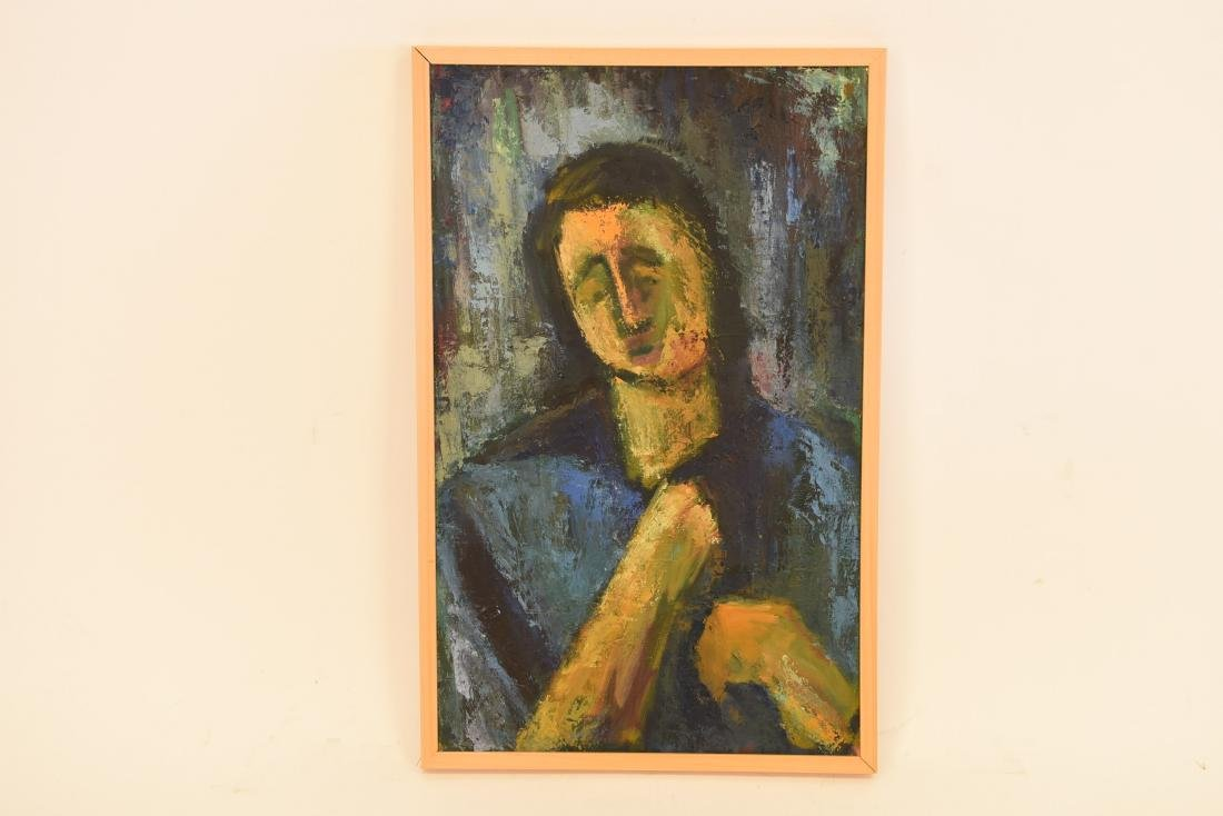 ABSTRACT EXPRESSIONISTIC FEMALE PORTRAIT O/C
