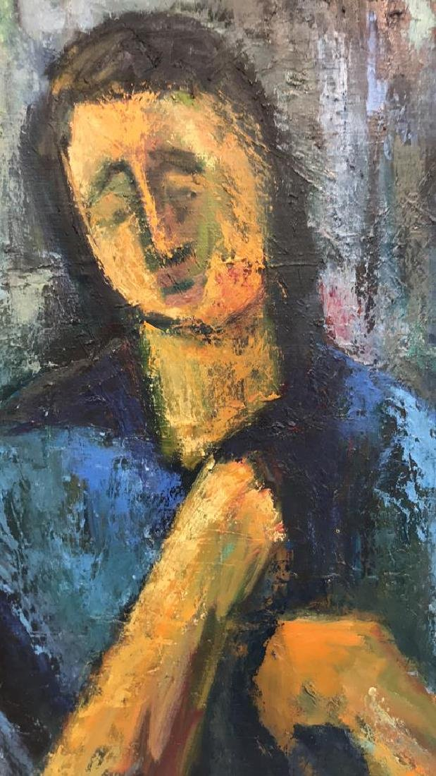 ABSTRACT EXPRESSIONISTIC FEMALE PORTRAIT O/C - 9