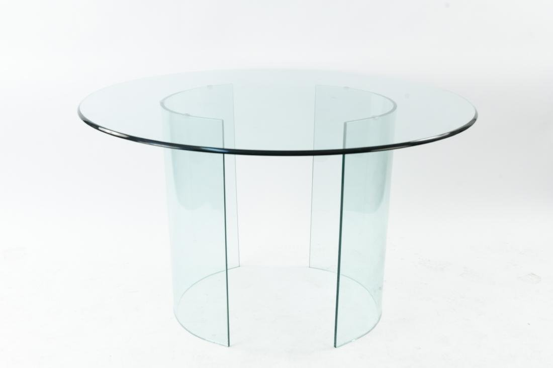 ALL GLASS ROUND TABLE